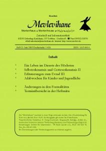 Mevlevihane Zeitschrift Heft 21 Juni 2005 / Dschumada / 1426