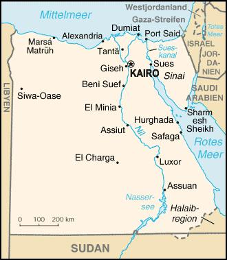 Landkarten Ägypten